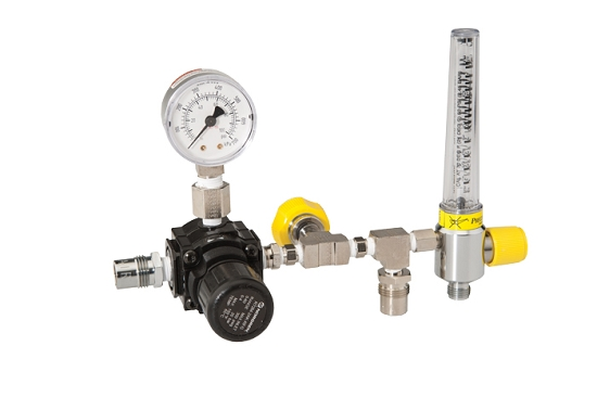 Inline Flow Regulator : Specialty inline adjustable pressure air regulator and